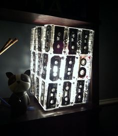 Handmade cassette tape lamp from @aprille_byam