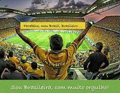 Parabéns, meu Brasil, Brasileiro! Arte da artista plástica Maria Cecilia Camargo.   #Brasil #brasileiro #parabéns #rio2016 #Olimpíadas #abertura #espetáculo