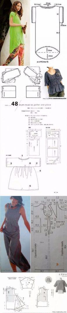 Несложные выкройки, схемы для бохо. Сводная подборка