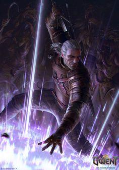 Geralt: Yrden, Anna Podedworna on ArtStation at https://www.artstation.com/artwork/xXX9O