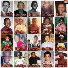 NBA kids - they all started somewhere.