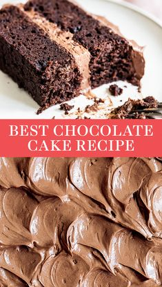 This Best Chocolate Cake recipe makes for the most flavorful, moist, and tender chocolate cake you've ever tasted! Easy, from-scratch, homemade recipe that's great for a crowed. No box mix here! Recipe By Tessa Arias Chocolate Cake Mix Recipes, Chocolate Butter Cake, Chocolate Cake From Scratch, Amazing Chocolate Cake Recipe, Cake Recipes From Scratch, Chocolate Cake Mixes, Chocolate Desserts, Easy Moist Chocolate Cake, Godiva Chocolate Cake Recipe