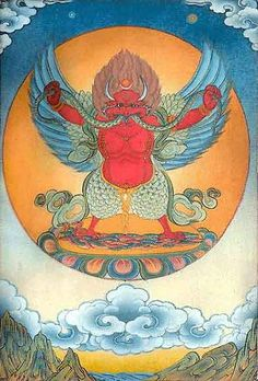 horned Garuda - a Gigantic Magic Bird-Man from Indian Legends who stole the drink of immortality from Mt Meru - Earth before the Flood: Disappeared Continents and Civilizations