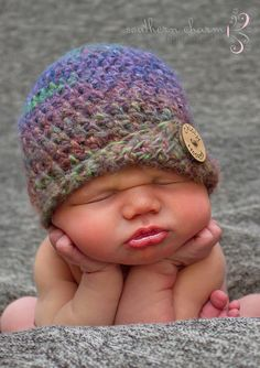 Crochet Baby Hat Autumn Color Crochet Hat Newborn by ChiclyHooked, $25.00