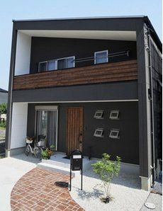Exterior paint colora for house modern entrance 68 Best ideas Design Exterior, Exterior House Colors, Facade Design, House Design, Exterior Paint, Japanese Home Design, Japanese House, Interior Cladding, Exterior Doors With Glass