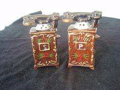 Vintage Salt and Pepper Shakers Telephone by SocialmarysTreasures, $6.00