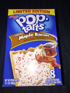 Kellogg's Pop tarts frosted maple bacon toaster pastries limited edition