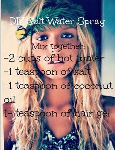 Make Perfect Beach Waves With DIY Sea Salt Spray