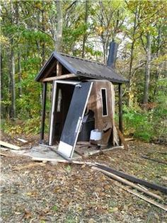 Someone, literally, blew up a bathroom in Northern Michigan...