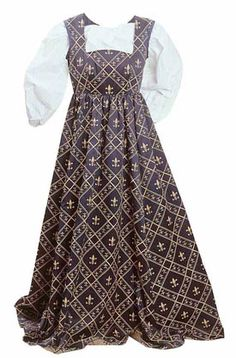 Fleur de Lys Dress: Renaissance Costumes, Medieval Clothing, Madrigal Costume: The Tudor Shoppe