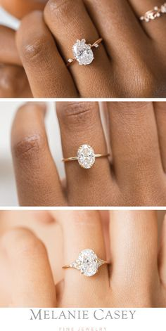We have multiple settings for oval engagement rings, featuring diamond accents, delicate bands, and all colors of gold. Find your perfect ring at ! Unique Diamond Engagement Rings, Dream Engagement Rings, Classic Engagement Rings, Designer Engagement Rings, Engagement Jewelry, Solitaire Engagement, Ring Verlobung, Wedding Bands, Wedding Sets