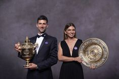 "Wimbledon 2019 ""It's great to know that as small as Romania and Serbia are doing so well on the world's largest stage ."" Simona Halep and Novak Djokovic danced to the ball. Our champion drew all eyes Continue on Wimbledon Champions Dinner, Sport English, Federer Nadal, Foto Sport, Wimbledon Tennis, World Conflicts, Simona Halep, Lawn Tennis"