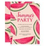 Tropical watermelon watercolor summer party pink invitation#invitation #party #pink #summer #tropical #watercolor #watermelon Party Invitations Kids, 1st Birthday Invitations, Pink Invitations, 80th Birthday Party Decorations, 30th Birthday Cake Topper, Kids Beach Party, Birthday Images Funny, Funny Candles, One In A Melon