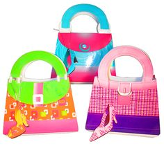Girl's Gift Bags with Shoe Shaped Tag