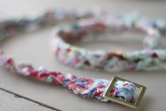 Make a braided belt - perfect for fabric scraps.