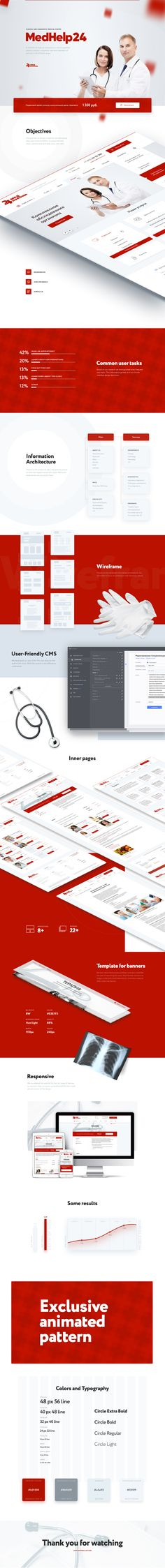 Сайт для клиники МедПомощь24, Сайт © AlexandrKashin Web Design, Landing, Lp, Desktop, Presentation, Design Inspiration, Medical, Marketing, Website