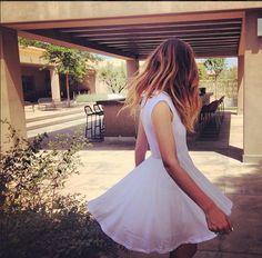 Simple White Dress