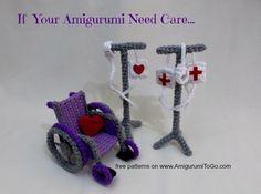 Amigurumitogo Sock Monkey : Amigurumi to go free pattern for sick sock monkey in a wheelchair