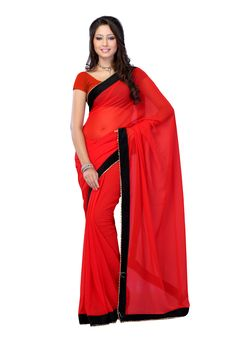 Red #Designer #Saree USA  For More Saree Check this page now :-http://www.ethnicwholesaler.com/sarees-saris