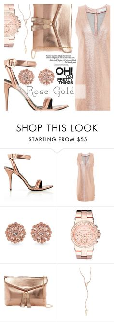 """Rose Gold Jewelry"" by aislinnhamilton1993 ❤ liked on Polyvore featuring Alexander Wang, Carolee, Michael Kors, Urban Expressions, EF Collection, jewelry, rosegold and nye"
