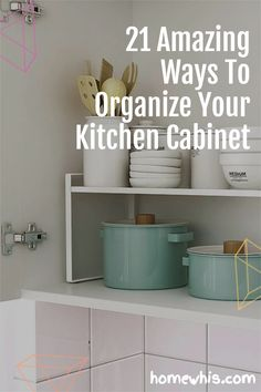 Low on kitchen cabinets storage space? Have trouble finding what you need? Here are 21 organization ideas that'll keep your cabinet clutter free and looking organized. If you love to cook, then you'll surely find these tips useful.Start organizing your upper and lower cabinets now with these 15 organization ideas! #homewhis #cabinetorganization #homeorganization #pantryorganization #spiceorganization #declutter Small Kitchen Organization, Kitchen Cabinet Storage, Low Cabinet, Kitchen Cabinet Organization, Organization Hacks, Organizing, Kitchen Cabinets, Sink Organizer, Staying Organized