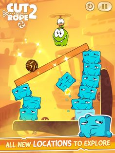 Cut the Rope 2 http://rdrct.it/cuttherope2 #cuttherope #cuttherope2 #omnom #cute #green #little #monster #love #yummy #candy #sweets #playing #play #new #mobile #family #game #games #phone #fun #happy #funny #nommies #smile #nice #love #iphone #ipod #ipad #app #application #puzzle