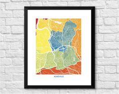 Asheville, North Carolina Art Map Print. Choose your size and Colors. Art Map Print of Asheville, NC. Perfect art for your home or office. Maps & Charts make great home decor and gifts. Looks great on any wall. Pick the size and colors that match your space and style. This print does NOT come with a frame. The print does come in standard sizes, so framing is easy: 8.5 x 11, or 11 x 14, or 13 x 19: THIS SIZE is formatted perfectly for the IKEA RIBBA FRAME that retails for $9.99 (Item #...