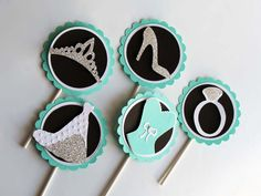 Hey, I found this really awesome Etsy listing at https://www.etsy.com/listing/174077431/breakfast-at-tiffanys-cupcake-toppers