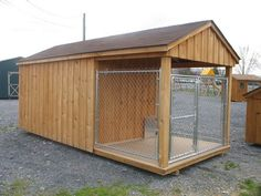 Dog houses on pinterest dog kennels dog houses and dogs for Dog kennel shed combo plans