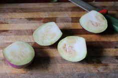 Brinjal Roast / Brinjal Fry with Garlic, Cumin & Dry Chillies - Yummy Tummy Indian Snacks, Indian Food Recipes, Vegetarian Recipes, Coconut Flan, My Favorite Food, Favorite Recipes, Dried Chillies, Veg Dishes, Shilpa Shetty