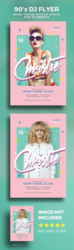 90s DJ Flyer Template PSD