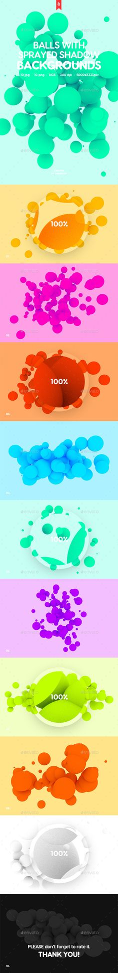 Irregular Balls with Sprayed Shadow #Backgrounds - Abstract Backgrounds