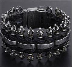 Badass Heavy Gunmetal Bracelet