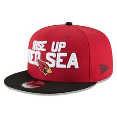 Men s Arizona Cardinals New Era Cardinal Black 2018 NFL Draft Spotlight  9FIFTY Snapback Adjustable Hat bd0477959