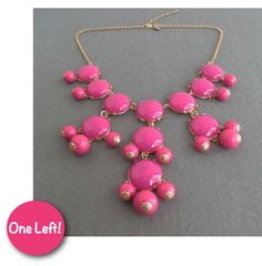 Adabelle's  - The Bubble Necklace in Hot Pink, $42.00 (http://www.adabelles.com/the-bubble-necklace-in-hot-pink/)