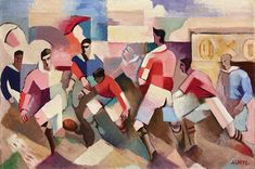 View Les Rugbymen (Circa By André Lhote; oil on panel; Access more artwork lots and estimated & realized auction prices on MutualArt. Movement Photography, Paul Klee, Oeuvre D'art, Picasso, Rugby, Illustration, Abstract Art, Palette, Museum
