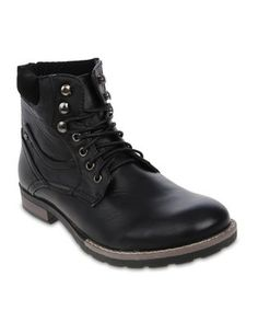 Luciano Rossi Combat Ankle Boots Black