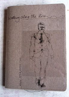 Very cool take on the Sketchbook Project...sketching via stitching :o) Artist: Rosie James