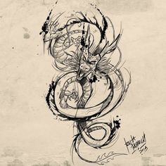 Dragon Tattoos For Men, Chinese Dragon Tattoos, Dragon Sleeve Tattoos, Tattoos For Guys, Dragon Tattoo Sketch, Dragon Tattoo Designs, Tattoo Sleeve Designs, Seal Tattoo, Z Tattoo