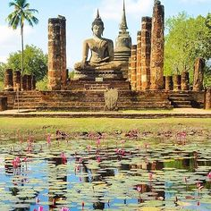 SUKHOTHAI, THAILAND. #Sukhothai - #Thailand Credit: @milesofsmiles._ Via: @thailand.vacations ≔≕≔≕≔≕≔≕≔≕≔≕≔≕≔