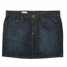 """New The GAP 5 Pocket Denim Mini Skirt in Topaz NWOT. This new dark blue wash denim jeans mini skirt from The Gap features traditional 5 pocket styling. The wash is called Topaz. Measures: Waist: 34"""", Hips: 49"""", Total Length: 15"""" GAP Skirts Mini"""