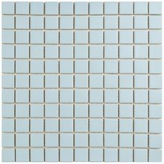 Made popular in the Victorian era and still prized today for a clean, bright appearance. This matte light blue-colored tile has a glazed, matte surface and incorporates square tiles to provide a clean look that lends itself to a variety of existing design schemes.