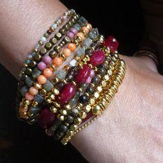 Gold beaded bracelet gold bracelet with beads gold by Oyeloria