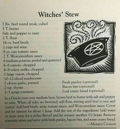 Some amazing comfort food right here. 2017 Witches Datebook Get your 2018 one in… Some amazing comfort food right here. 2017 Witches Datebook Get your 2018 one in store or online… Wicca Recipes, Samhain Recipes, Wiccan Spells, Magick, Witchcraft, Magic Spells, Wiccan Witch, Mabon, Beef Round Steak