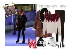 """""""First kiss with Harry"""" by freedom-dream ❤ liked on Polyvore featuring Paige Denim, Paula Bianco, Heist, NARS Cosmetics, contest, OneDirection, harrystyles and onedirectionoutfits"""