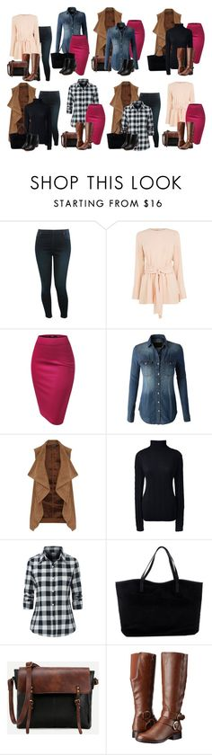 """""""7 clothing items 4 accessories:  Styled 8 ways"""" by jnyaface on Polyvore featuring M&Co, Warehouse, LE3NO, Dorothy Perkins, Lands' End, ONLY and LifeStride"""