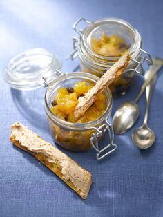 Mouillettes au Fleuron de Canard et chutney de poire