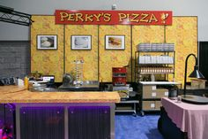 Perky's Pizza booth at IAAPA Expo 2015