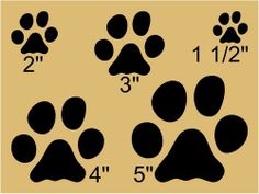 Primitive Stencil, CAT PAW PRINTS, Kitty, Kitten, Craft Projects, Paint Signs