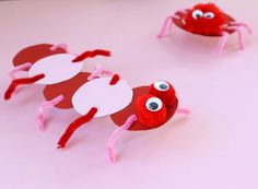 Click pic for 28 Spring Crafts for Kids - Cereal Box Bugs | Spring Craft Ideas for Preschoolers